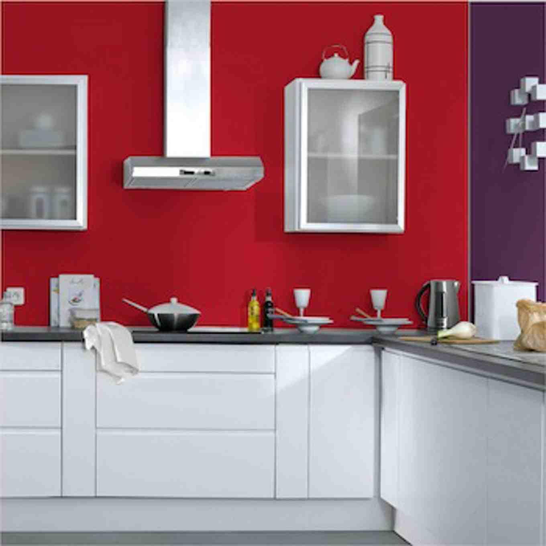 Quelle couleur avec du rouge dans une cuisine ?