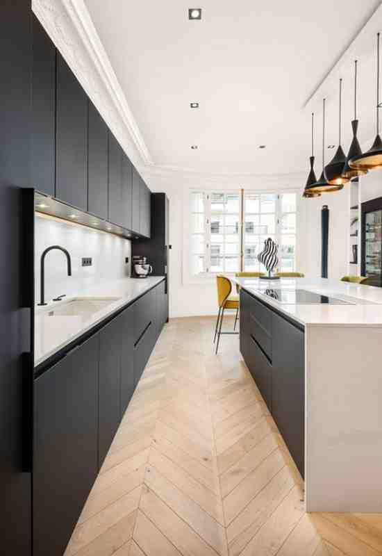Quelle couleur de sol avec une cuisine blanche ?